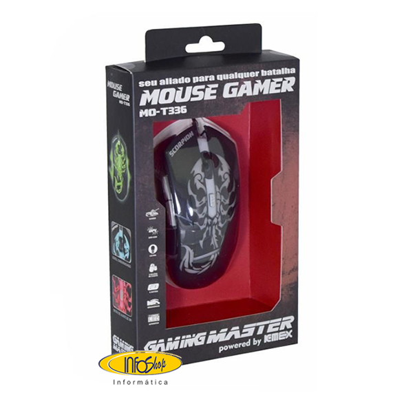 Mouse gamer 3200 DPI MO-T336.fw
